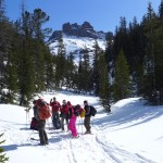 Group touring out of the Woody Creek Cabin
