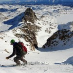 A multi day ski trip into the Beartooth Mountains